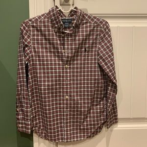 Boy's long sleeve button down top